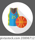 sport basketball flat icon 20896712