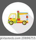 Tow truck flat icon 20896755