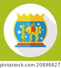 fish bowl flat icon 20896827