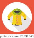 winter coat flat icon 20896843