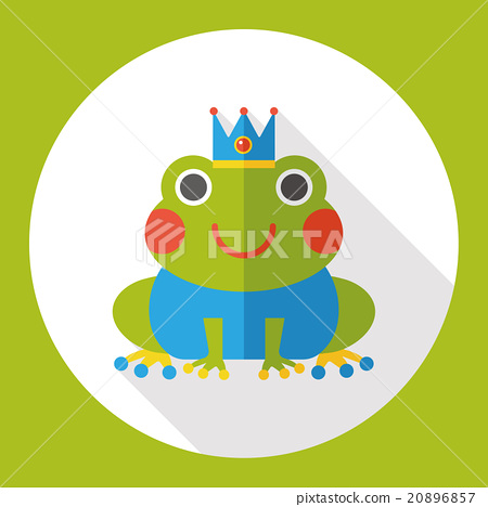fairy tale frog flat icon 20896857