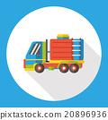 truck flat icon 20896936