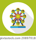 Ferris wheel flat icon 20897018