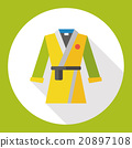 Karate suit flat icon 20897108