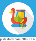 amusement park swan boats flat icon 20897137