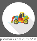 truck transportation flat icon 20897231