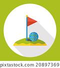 sport golf flat icon 20897369