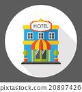 hotel, icon, vector 20897426