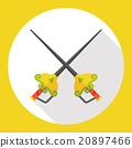 Sport Fencing flat icon 20897466