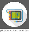 Drawing board flat icon 20897525