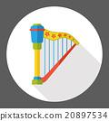 harp music instrument flat icon 20897534