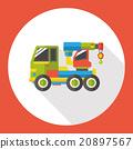 truck transportation flat icon 20897567