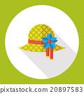 wearing hat flat icon 20897583