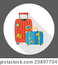 luggage case flat icon 20897704