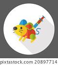Experiments rat flat icon 20897714