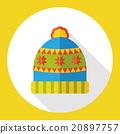 winter hat flat icon 20897757