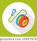 toy yoyo flat icon 20897878