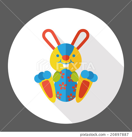 easter bunny flat icon 20897887
