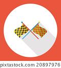 sport race flag flat icon 20897976
