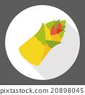 vegetable Bamboo shoots flat icon 20898045