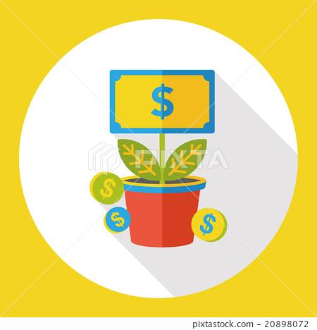 money tree flat icon 20898072