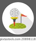 sport golf flat icon 20898118