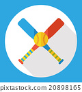 hobby baseball flat icon 20898165