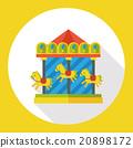 merry-go-round flat icon 20898172