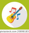 music guitar flat icon 20898183