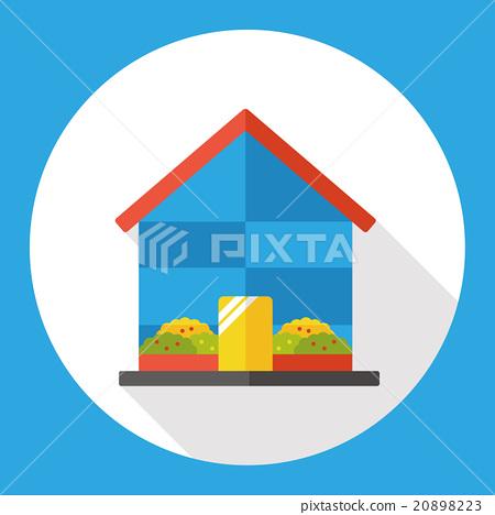 Gardening greenhouse flat icon 20898223