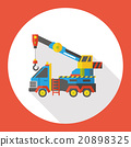 truck transportation flat icon 20898325
