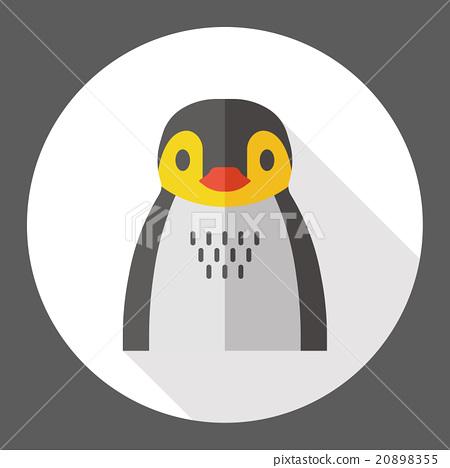 penguin zoo animal flat icon 20898355