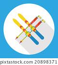 sport ski flat icon 20898371