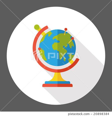 Globe flat icon 20898384