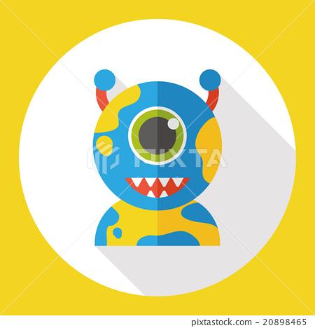Space Alien flat icon 20898465