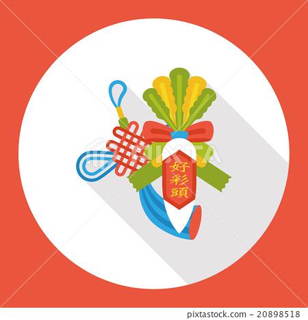 Chinese New Year lucky white radish flat icon 20898518