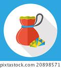 crystal diamond flat icon 20898571