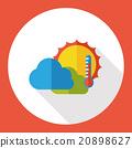 weather sunny flat icon 20898627