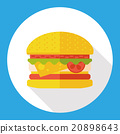 hamburger flat icon 20898643