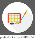 sport hockey flat icon 20898652