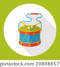 toy drum flat icon 20898657