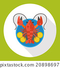 lobster flat icon 20898697