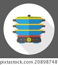 kitchenware pot flat icon 20898748