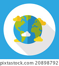 Space planet earth flat icon 20898792