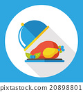 food chicken flat icon 20898801