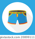 wearing pants flat icon 20899111