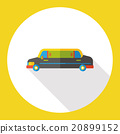 limo car flat icon 20899152