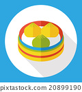 Steamed stuffed bun flat icon 20899190