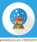 crystal ball flat icon 20899290