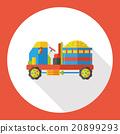 farm bulldozer flat icon 20899293